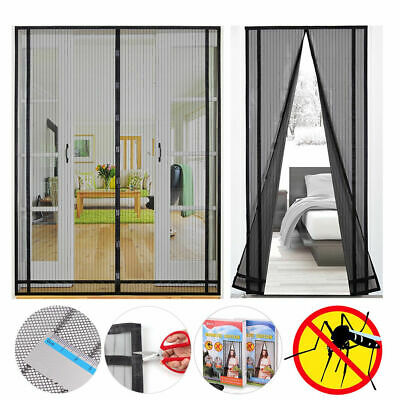 Magnetic Screen Door Mesh Curtain with Heavy Duty Fiberglass Size Modifiable
