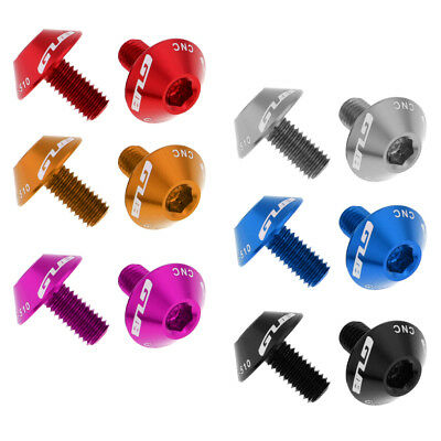 2x Aluminum Alloy Bike Bicycle Water Bottle Cage Bolts Holder Screws 5x12mm