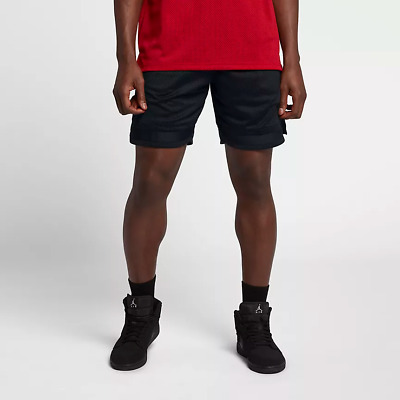 932248d3c3d40d Nike MEN S Jordan Sportswear Diamond Mesh Shorts SIZE LARGE Black LAST SHOT  JSW