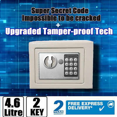 Steel Safe Digital Key Electronic Security Home Office Money Safety Box