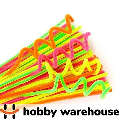 Chenille Stems Neon 300x6mm 100 Pack
