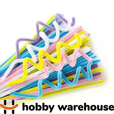 Chenille Stems Pastel 300x6mm 100 Pack