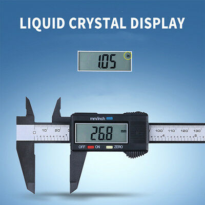 150MM 6inchLCD Plastic Digital Electronic Vernier Caliper Gauge Micrometer Good·