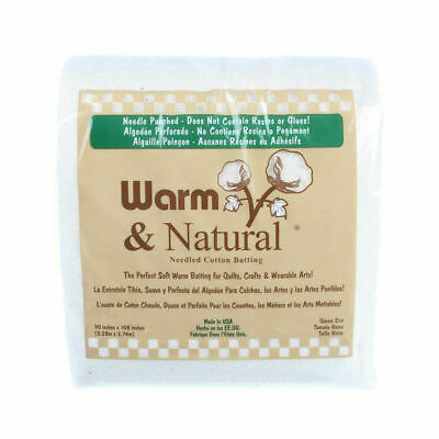 Batting Warm & Natural Cotton 90in x 108in Bagged x 1