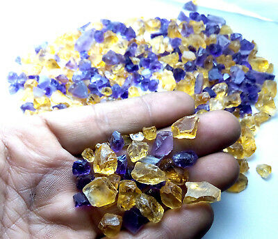 Lot 100% Natural Untreated Brazilian Amethyst & Citrine Gemstone Rough