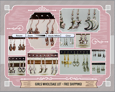 WHOLESALE Lot of 23 PAIRS of EARRINGS / Resale Jewelry Lot / HIGH QUALITY -GIRLS