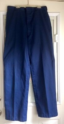 Vintage Coast Guard Blue Trousers Operational Field Uniform Pants Med 34 R