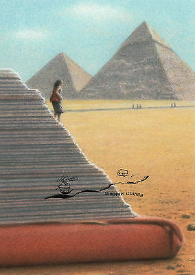 Kunstkarte Der Umzug Quint Buchholz The Move Postcard Art