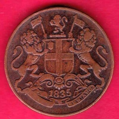 British India - 1835 - East India Company - One Quarter Anna - Rare Coin #q44