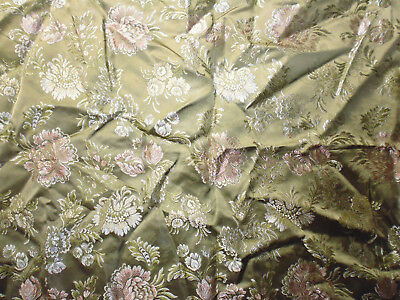 tissu ameublement lampas french fabric style 18e vert Lelièvre 126x70