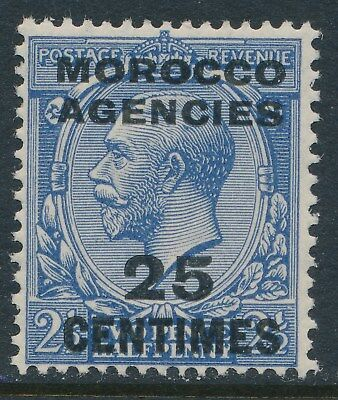 1925-34 MOROCCO AGENCIES 25c on 2½d BLUE FRENCH OERVPRINT FINE MINT MNH SG205