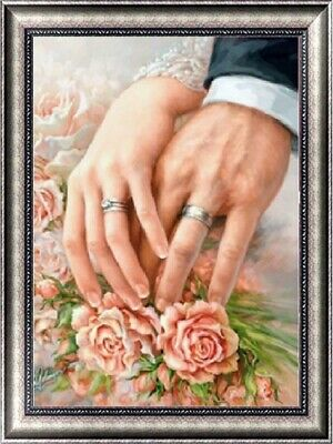UK Ring Flower Full Drill 5D Diamond Painting Embroidery Cross Stitch Kit MA