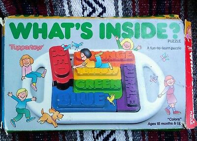 Vintage 1989 Tuppertoy What's Inside Puzzle in Box Tupperware