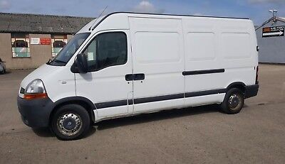 2008 Renault Master LWB Van White Full Mot Great for Removals 2.5TD 6 Speed