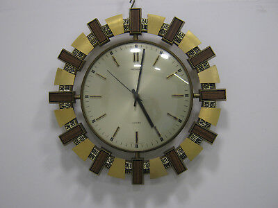 Retro Wall Clock Vintage 1970s Sunburst / Starburst by Metamec Northants