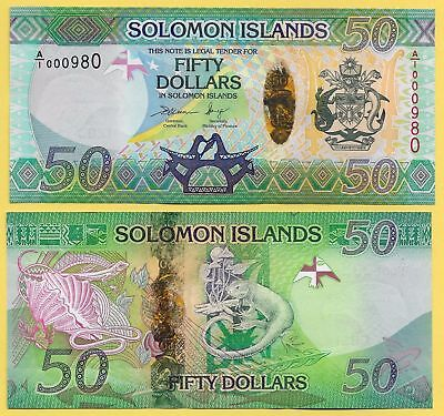 Solomon Islands 50 Dollars 2013 P 35 Hybrid Unc