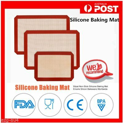 3 TYPES Non-Stick Food Grade Silicone Baking Mat Pad Sheet Baking pastry tools