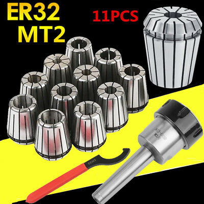 MT2 Shank ER32 Chuck with 11 PC Collets Set NEW