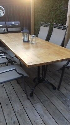 Wonderful Industrial Style 8ft Dining Table Great for Indoors or Outside