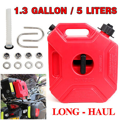 5L Liter Jerry Can Fuel Container Holder Motor Bike Spare Petrol Heavy Duty AU