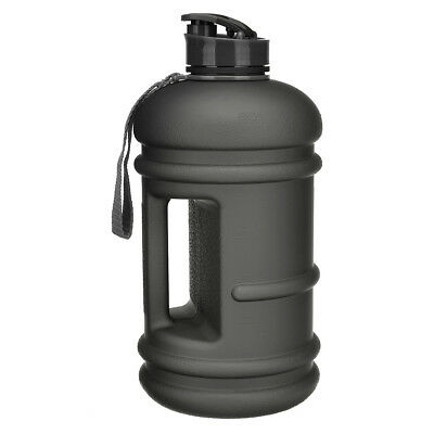 Frosted 2.2L BPA Free Sport Gym Training Water Bottle Workout Camping Cup Black