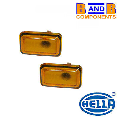 VW GOLF MK1 MK2 SCIROCCO CORRADO POLO SIDE REPEATER LAMP x 2  HELLA A1338