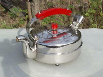 GORGEOUS C1948 Chrome and BAKELITE vintage KETTLE