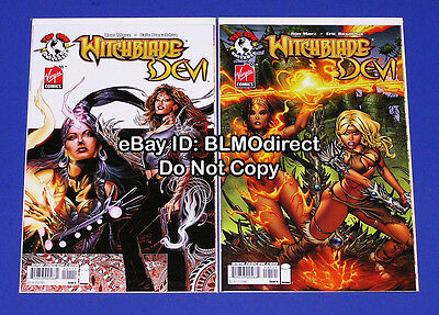 B39 2008 Witchblade / Devi #1 Both Covers 1st Virgin Crossover Land EBAS Variant