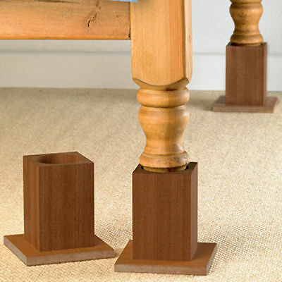 Homecraft Pattersons Wooden Bed Raisers Raiser Legs
