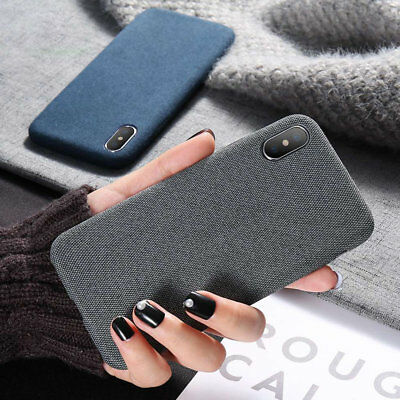 Cloth Texture Case For iPhone 7 X 8 Plus Soft Silicone TPU Ultra Thin Case Cover