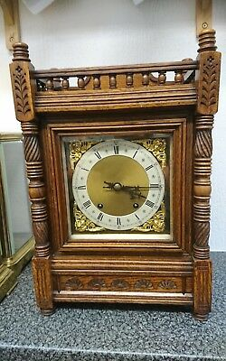 Antique Bracket clock W & H 8 DAY ting tang fully working