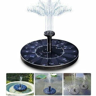 Solar Powered Submersible Floating Fountain Garden Pool Pond Water Pump Tank AU