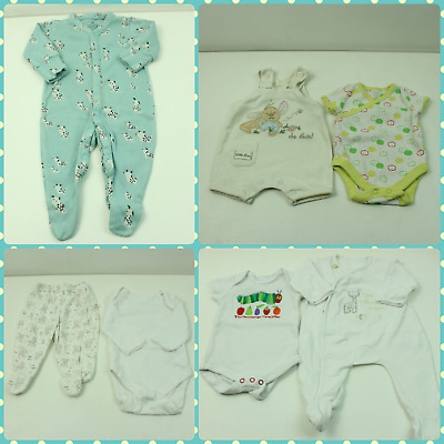 Baby boys Newbown Clothing Bundle X10 Items, Vests, Sleepsuits, Rompers + More!