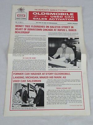 Oldsmobile Used Car Sales Activator Paper Voice of Used Car Merchandising 1970s