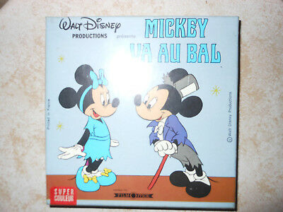 FILM 8mm MICKEY VA AU BAL, Walt Disney 60m NEUF