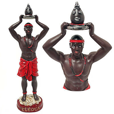 Elegua Orisha Of Crossroads Warrior Statue Santeria Estatua Statue 12""