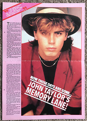 JOHN TAYLOR - 1984 2-page UK magazine annual feature DURAN DURAN