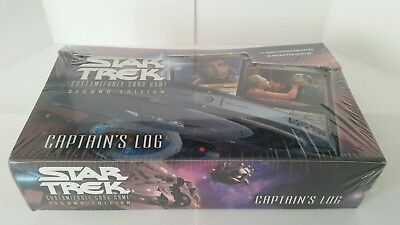 Star Trek CCG Captain's Log Booster Box, Sealed, 2nd Edition