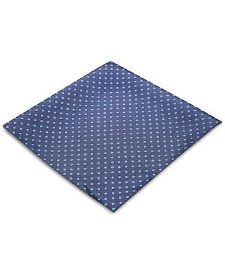 $125 Ryan Seacrest Men'S Blue Polka Dot Silk Handkerchief Pocket Square Hanky