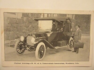 1914 auto, Modern Woodman of Am. Tuberculosis Sanatorium, Colorado Springs, CO