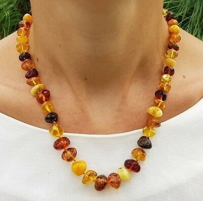 """19,7"""" Genuine Baltic Amber Choker Necklace Baroque Mix"""