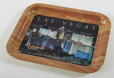 "Metal LAS VEGAS Vintage Souvenir Tin Tip Tray, 8"" x 6 1/2"", Collectible, Nevada"
