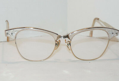49d275a0ea Vintage Women s Universal Optical Cateye Eyeglasses Frames! 1 10 12K Gf  Metal!