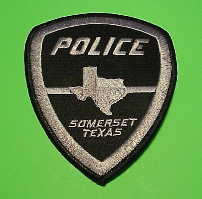 Somerset   Texas  Tx  ( Black Border )  Type 2   Police Patch   Free Shipping!!!