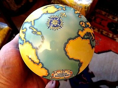 Tiffany & Co France 2000 Tauck World Discovery Globe Porcelain Trinket Box
