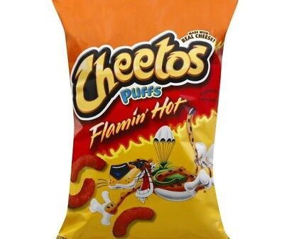 Cheetos Puffs Cheese Flavored Snacks, Flamin' Hot 8 Oz