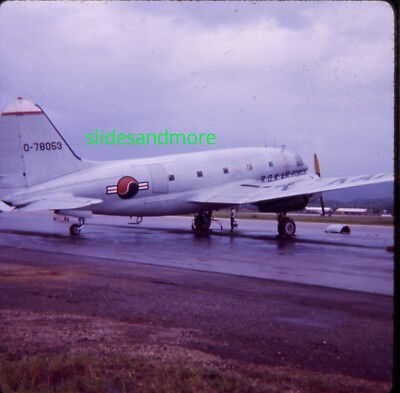 1970s Original Slide, ROK Air Force Curtiss C-46D Commando (Ex USAAF 44-78053)