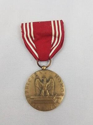 WW2 WWII US U.S. Good Conduct Medal,Named,Army,Ribbon,Bar,Original,Military