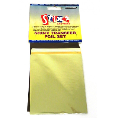 Stix2 - Shiny Transfer Foils - Vintage Tones Hobby Craft Card Making