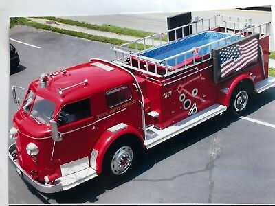 fire truck with swimming pool